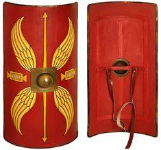 Roman Shield Manufacturers Roman Shield, Roman Armor, Armadura Medieval, Ancient Rome, Ancient History, Larp, Medieval Shields, Roman Centurion, Rome Antique