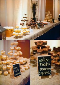 mini chalkboard dessert labels #navywedding #yellowwedding #weddingchicks http://www.weddingchicks.com/2013/12/26/navy-and-yellow-wedding-2/