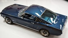 "1965 Mustang Fastback / RARE ""pre GT"" model with many options / Factory Caspian Blue with blue interior / Rally pac / manual transmission / Dual exhaust with trumpets / Disc brakes / Factory A-code 289 1965 Mustang, Ford Mustang Fastback, Mustang Boss, Ford Mustangs, Shelby Gt500, Classic Mustang, Ford Classic Cars, Vintage Mustang, Old Muscle Cars"