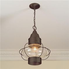 kitchen latern lights | Nautical Hanging Lantern light fixture for over the kitchen sink or ...