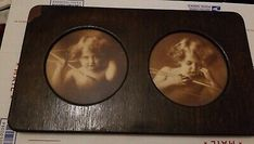 Antique Original Cupid Awake & Cupid Asleep Oval Matting Original Wood Frame. Its 16 x 9. One corner has wood damage. Needs hanger to hang up Cupid, Framed Art, Hanger, Corner, The Originals, Antiques, Wood, Vintage, Antiquities