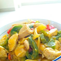 Spicy thai red curry with chicken and peppers - 105件のもぐもぐ - 매운 태국 카레 / spicy タイカレー by Cheesywee