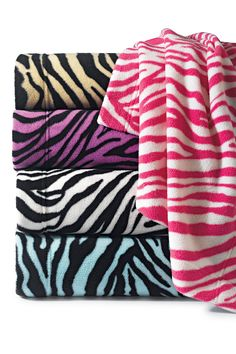 Home Accents® Lightweight Zebra Fleece Blanket #belk #bedding