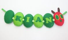 The Very Hungry Caterpillar Felt Name Banner - The Supermums Craft Fair
