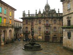 Town Square, Galacia, Spain