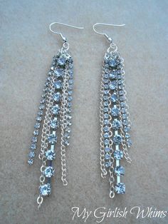 DIY Rhinestone Chain Earrings