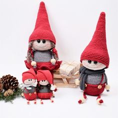 The Elves Pil and Aske Patterns Crochet Pattern Free, Knit Or Crochet, Crochet Dolls, Crochet Patterns, Beginner Crochet, Drops Design, Hobbies And Crafts, Diy And Crafts, Drops Cotton Light