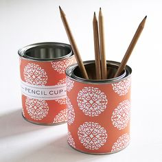 Susy Jack pencil cup in Rosette Dot