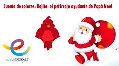 Cuento de colores: Rojito: el petirrojo ayudante de Papá Noel Rojito es un pequeño petirrojo que vive en el bosque con su familia, todos lo quieren muchísi
