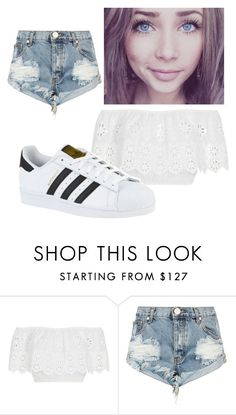 """Untitled #100"" by alicexxlove ❤ liked on Polyvore featuring Miguelina, One Teaspoon and adidas"