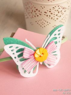 DIY Felt Butterfly Headband using Sizzix Dies
