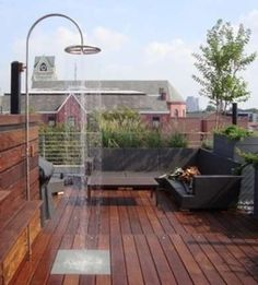 Outdoor simple shower