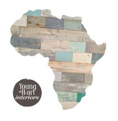Africa from reclaimed wood and then techniqued by Ashleigh Papas artist. Art Interiors, South Africa, Interior Decorating, African, Wood, Artist, Design, Interior Styling, Woodwind Instrument