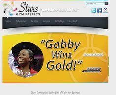 "Stars National Gymnastics Village | Website Portfolio, Colorado Springs Website Design, Social Media, Sports WordPress Web Design. Feedback:   ""Did I say that I love the Site . . . Love the Site, Love it!!!"""