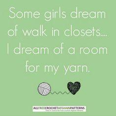 Yarn closet!