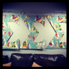 @Kirsten Crear hand painted these new letters for our chapter, Delta Omicron.  So impressed and so in loveee! #trisigma