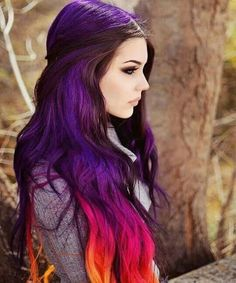 Beauty/Hair Ideas Trendy Haar Pastell Regenbogen Lila What Is Your Hair Type? Pastel Hair, Ombre Hair, Red Ombre, Hair Dye, Pastel Rainbow Hair, Ombre Brown, Blonde Hair, Rainbow Hair Colors, Purple Balayage