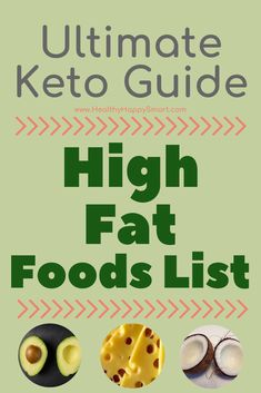 You know Keto is a high fat diet, right? Want to eat more fatty foods? Check out this high fat foods list. High fat/Low Carb is best for Keto Success! Clean Dinner Recipes, Clean Eating Dinner, High Fat Foods, High Fat Diet, Healthy Fats List, Eat Healthy, Healthy Man, Healthy Nutrition, Healthy Weight