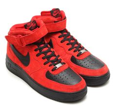 Nike Air Force 1 Mid – Red Suede / Black Python