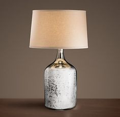 Glass/mercury table lamp.  Going to look for a DIY to create this 'look'... not planning on using real mercury... ;)