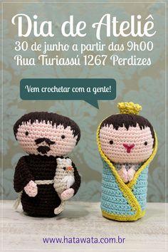 Um dia inteirinho com muito crochet, tricot e bordado! Vem ver! #elacamarena #pingouin #fiospingouin #hatawata @adorocrochet #cursosdaela