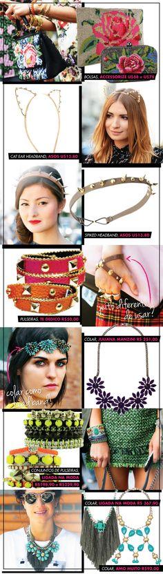 acessórios, ligada na moda, accessorize, accessories, bolsa, clutch, cat, ear, asos, headband, spike, pulseira, bracelet, colar, neon,