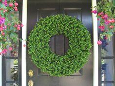 Wedding Boxwood Church Decoration Outdoor Wedding by ElegantWreath, $135.00