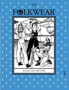 Folkwear Patterns Ladies Sewing Pattern Rosie the Riveter | Sewing | Patterns | Minerva Crafts