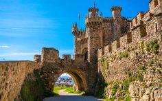 Download wallpapers Knights Templar Castle, summer, spanish landmarks, Ponferrada, Spain