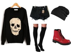 Punk / rock / emo / style / outfit / black