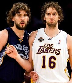Marc and Pau Gasol brothers. NBA Basketball Players from Spain