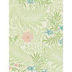 Buy Morris & Co Bird Larkspur Wallpaper, 212558 Online at johnlewis.com
