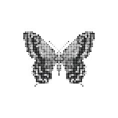 """Tattly: Designy Temporary Tattoos in """"Butterfly Effect"""" / """"With its halftone patterning, this Butterfly Effect by Matt(H)Booth might just look like it's going to fade or flutter away. It's a beautiful design that can be worn by just about anyone."""" / $5.00"""