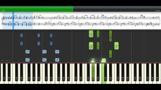 Frozen _ Let it go Piano Song [ Synthesia Lesson + with Screen Sheet Mus...