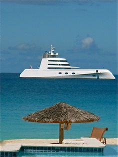 We saw this in St Maarten - apparently belongs to some young Russian pop star - Is it a boat? or a Sub?