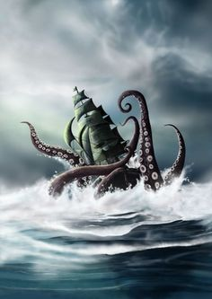 El kraken un pulpo de 100 pisos de altura