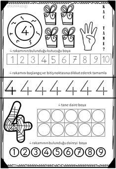 Numbers For Kids, Numbers Preschool, Preschool Printables, Preschool Math, Kindergarten Math, Kids Math Worksheets, Primary Maths, Book Corners, Simple Math