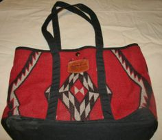 LARGE PENDLETON COMPUTER BAG, PURSE, TOTE, WOOL NATIVE AMERICAN OREGON INDIAN