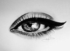eye, drawing, art, sketch,
