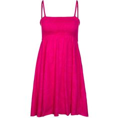 Chiemsee GÜZIN Summer dress cabaret ($53) ❤ liked on Polyvore featuring dresses, pink, sports dress, pink summer dresses, summer dresses, cotton dress and sport dress