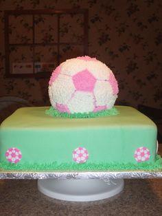 Image detail for -Girl's soccer cake by lyllek on Cake Central