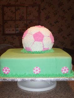 Image detail for -Girl's soccer cake by lyllek on Cake Central
