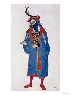 Costume Design for Blue-Beard, from Sleeping Beauty, 1921    by Leon Bakst Item #: 1586042