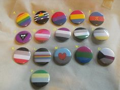 """Sexual or Romantic Orientation Pride Button - 1.5"""" - LGBT - Gay - Queer - Asexual - Lesbian - Pansexual - Polyamory - Bisexual - Ally - Pin"""