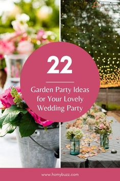 22 Garden Party Ideas for Your Lovely Wedding Party - HomyBuzz #homybuzz #gardenpartyideas #fall #halloween