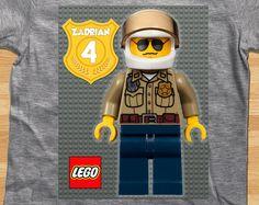 Lego City Custom Color T-Shirt - Boy