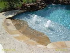 play pool with beach entry inground - Google Search | Pools to ...