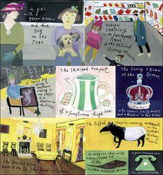 """Little London"" (Image 3) by Maira Kalman for New York Times Style Magazine."