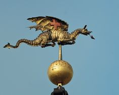 Weathervanes of London, from After the Great Fire. St Mary-Le-Bow Dragon