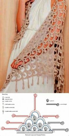 Hottest Images Crocheting Stitches For S Hottest - Diy Crafts - maallure Poncho Crochet, Crochet Shawl Diagram, Crochet Patron, Crochet Chart, Crochet Scarves, Crochet Clothes, Crochet Stitches Patterns, Lace Patterns, Diy Crafts Crochet